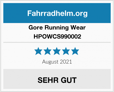 Gore Running Wear HPOWCS990002 Test