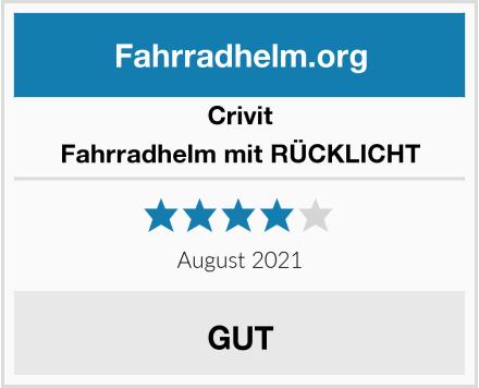 Crivit Fahrradhelm mit RÜCKLICHT Test