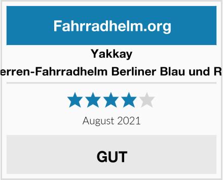Yakkay Herren-Fahrradhelm Berliner Blau und Rot Test