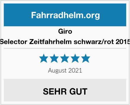 Giro Selector Zeitfahrhelm schwarz/rot 2015 Test