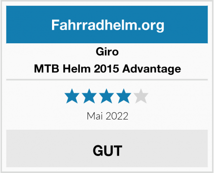 Giro MTB Helm 2015 Advantage Test