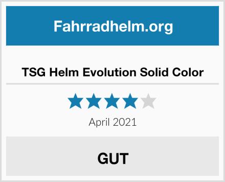 TSG Helm Evolution Solid Color Test