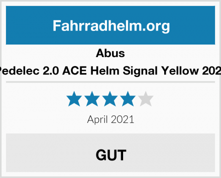 Abus Pedelec 2.0 ACE Helm Signal Yellow 2020 Test