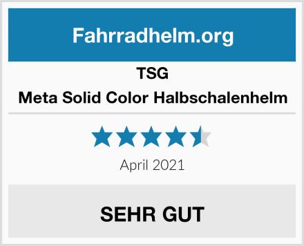 TSG Meta Solid Color Halbschalenhelm Test