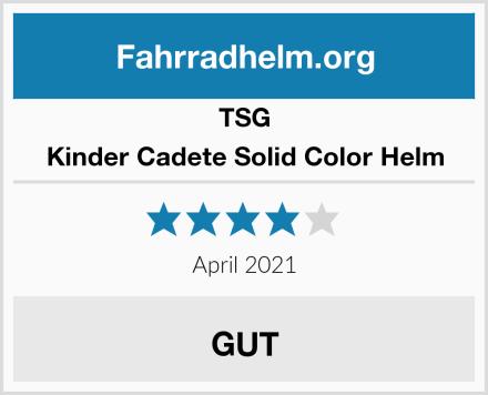 TSG Kinder Cadete Solid Color Helm Test