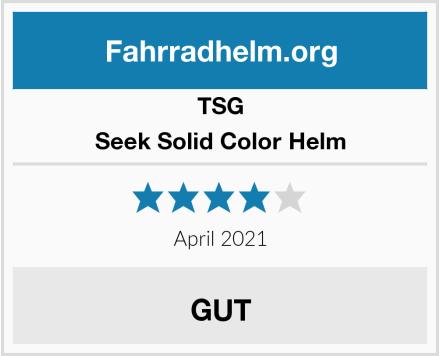 TSG Seek Solid Color Helm Test