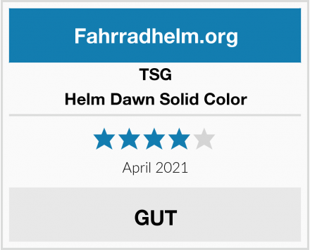 TSG Helm Dawn Solid Color Test