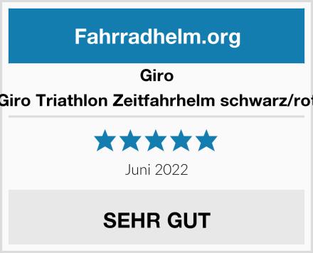 Giro Giro Triathlon Zeitfahrhelm schwarz/rot Test