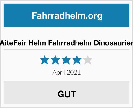 AiteFeir Helm Fahrradhelm Dinosaurier Test
