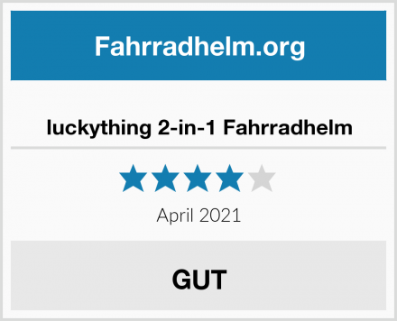 luckything 2-in-1 Fahrradhelm Test