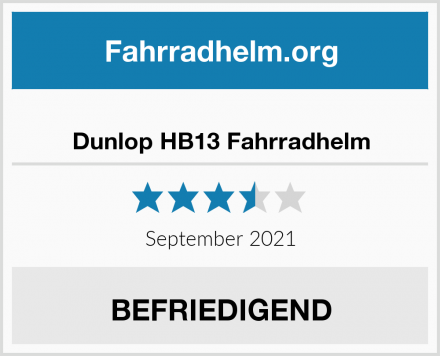 Dunlop HB13 Fahrradhelm Test
