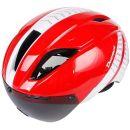 COEWSKE Fahrradhelm mit Visier-Schutzbrille