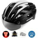 Shinmax Fahrradhelm mit Abnehmbarer Schutzbrille